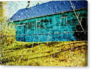 Rainy Barn Canvas Print by Jill Hyland