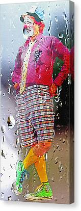 Rainy Day Clown 2 Canvas Print by Steve Ohlsen