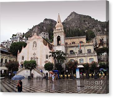 Rainy Day In Taormina Canvas Print by Madeline Ellis