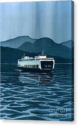 Rainy Ferry Canvas Print by Scott Nelson