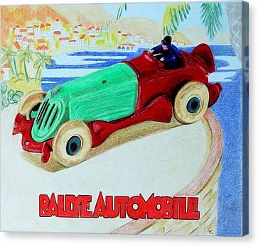 Rallye Automobile Canvas Print by Glenda Zuckerman