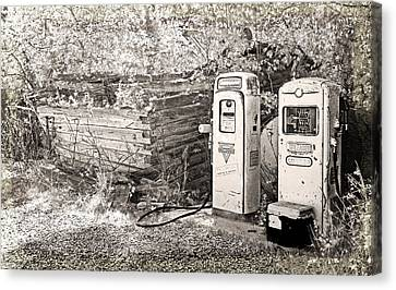 Ranch Gas Pumps Canvas Print by Lenore Senior and Dawn Senior-Trask