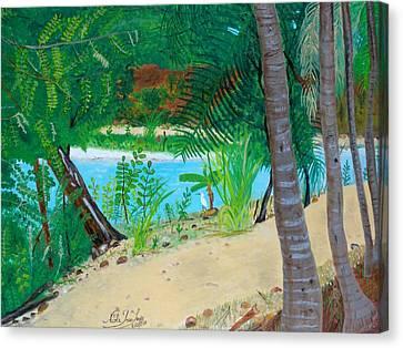 Rare Visitor Canvas Print by Nicole Jean-Louis