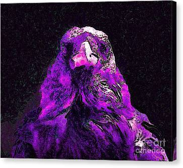 Raven In Van Gogh.s Dream . V2 . 40d9097 Canvas Print by Wingsdomain Art and Photography