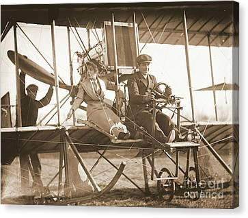 Ready For Takeoff 1912 Sepia Canvas Print by Padre Art