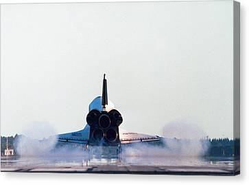 Rear View Of The Landing Of The Space Shuttle Canvas Print by Stockbyte