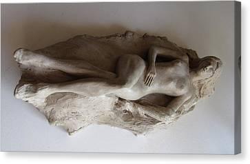 Reclining Nude Canvas Print by Herschel Pollard