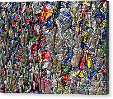 Recycled Aluminum Cans Canvas Print by David Buffington
