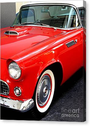 Red 1955 Ford Thunderbird Canvas Print by Wingsdomain Art and Photography