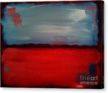 Red And Blue Canvas Print by J Von Ryan