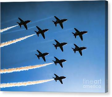Red Arrows Canvas Print by Graham Taylor
