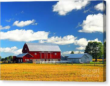 Red Barn Canvas Print by Elena Elisseeva