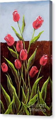 Red Delight-tulips Canvas Print by Vic  Mastis
