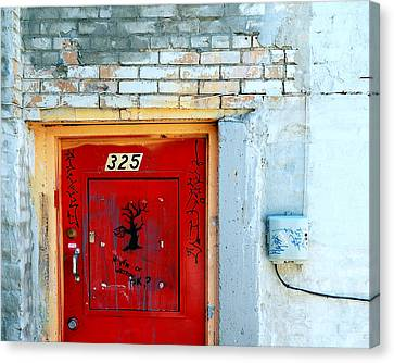 Red Door 325  Canvas Print by Steven Milner