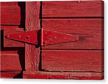 Red Door Henge Canvas Print by Garry Gay