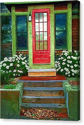 Red Door Canvas Print by Susan Lee Giles