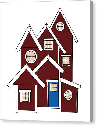 Red Houses Canvas Print by Frank Tschakert