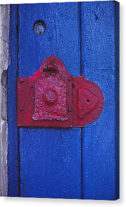 Red Latch Canvas Print by Bob Whitt