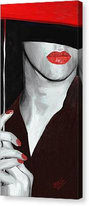 Red Lips Canvas Print by James Shepherd