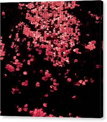 Red Metal Rings Canvas Print by Gunay Mutlu