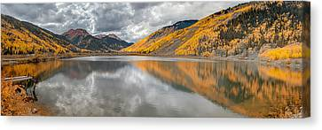 Red Mountain Canvas Print by Jennifer Grover