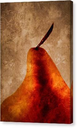 Red Pear I Canvas Print by Carol Leigh