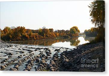 Red River Fall Of The Year Canvas Print by Steve Augustin