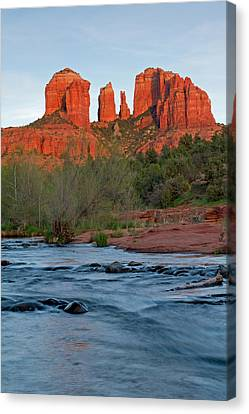 Red Rock Sunset Canvas Print by Sandy Sisti