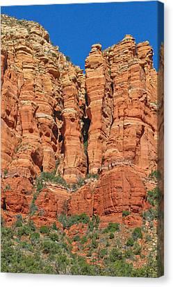 Red Rocks Canvas Print by Wayne Stabnaw