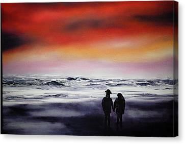 Red Sky Canvas Print by Johanna Larson