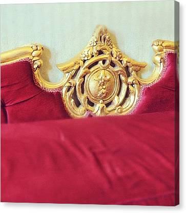 Sofa Canvas Print featuring the photograph Red Sofa by Matthias Hauser