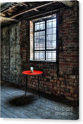 Red Table Canvas Print by Steev Stamford