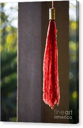 Red Tassel At Buddhist Temple Canvas Print by David Buffington