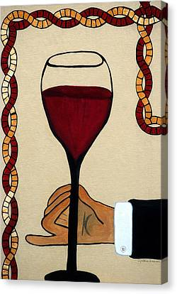Red Wine Glass Canvas Print by Cynthia Amaral