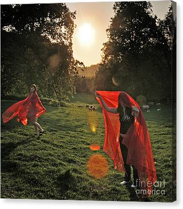 Red Witches Dance Canvas Print by Angel  Tarantella
