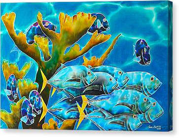 Reef Fish Canvas Print by Daniel Jean-Baptiste
