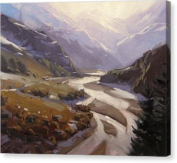 Rees Valley Canvas Print by Richard Robinson