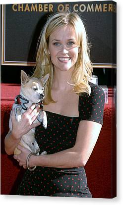 Reese Witherspoon At The Induction Canvas Print by Everett
