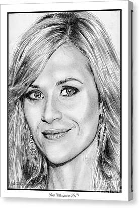 Reese Witherspoon In 2010 Canvas Print by J McCombie