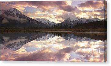 Reflecting Mountains Canvas Print by Keith Kapple