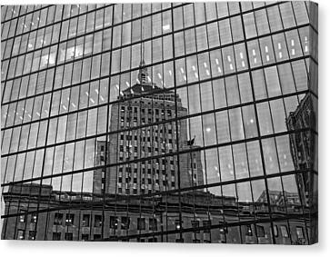 Reflections Of Boston Canvas Print by Michael Avory