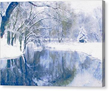 Reflections Of Winter Canvas Print by Georgiana Romanovna