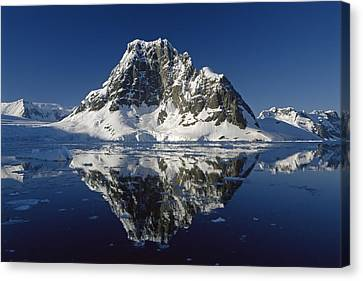 Reflections With Ice Canvas Print by Antarctica