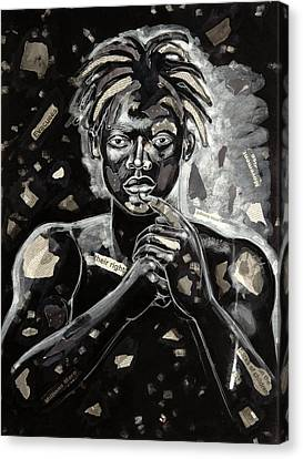 Refugee Evacuee Canvas Print by Larry Poncho Brown