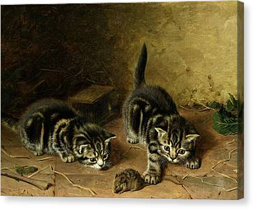 Reluctant Playmate Canvas Print by Horatio Henry Couldery