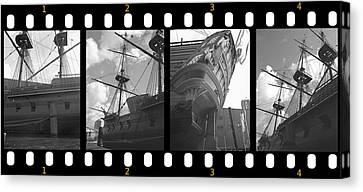 Remember This Boat Canvas Print by Manuela Constantin
