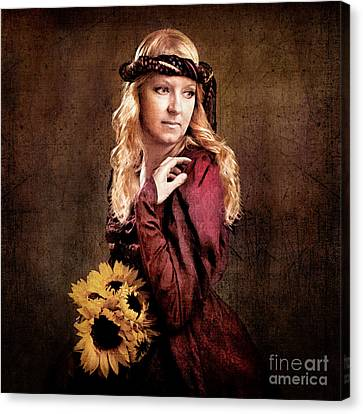 Renaissance Portrait Canvas Print by Cindy Singleton