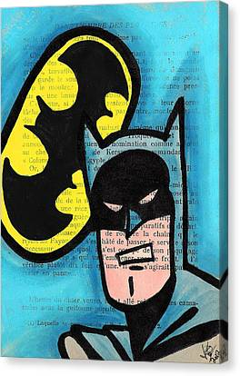 Retro B-man Canvas Print by Jera Sky