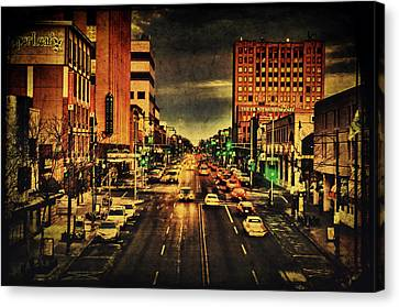 Retro College Avenue Canvas Print by Joel Witmeyer