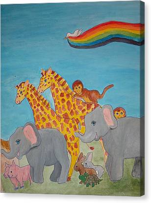 Return From The Ark Canvas Print by Heather Walker